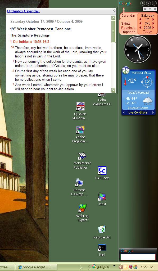 Calendar Planner Desktop Gadget : Google desktop gadget holy trinity russian orthodox