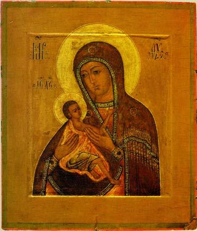 О всепетая мати, рождшая всех святых святейшее слово, нынешнее приемши приношение, от всякия избави напасти всех