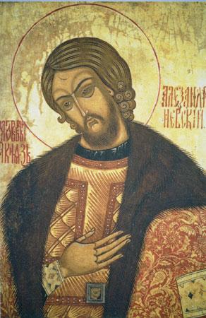 Translation of the relics (1724) of  St. Alexander  Nevsky (1263).