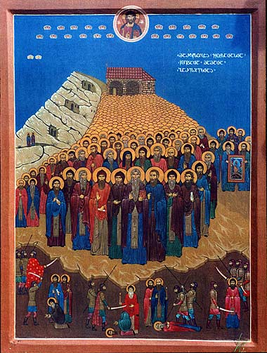 Blessed  Martyrs  and  Fathers  of the St. David-Gareji Monastery (17th c.) (Georgia) ( movable holiday on the Tuesday of the Bright Week ).