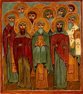 Holy Fathers Prokhore the Georgian, Luka (Mukhaidze) of Jerusalem, Nikoloz Dvali, аnd the Holy Fathers of the Georgian Monasteries in Jerusalem