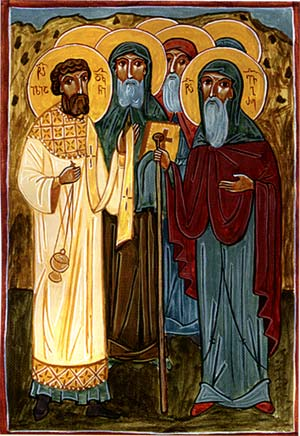 Venerable Fathers Evagre, Ilia the Deacon, and the Disciples of the Thirteen Syrian Fathers
