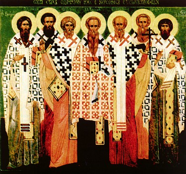 The Holy Hieromartyrs of Cherson:  Basil ,  Ephraim ,  Capito ,  Eugene ,  Aetherius ,  Elpidius , and  Agathodorus  (4th c.).