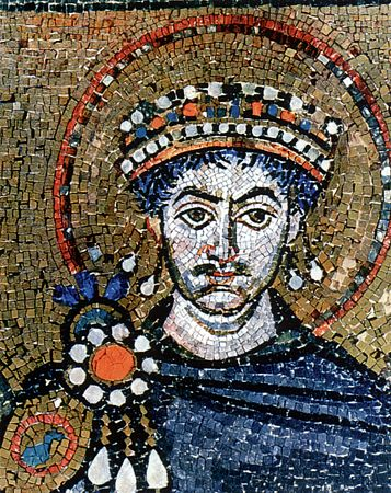 St. Justinian  the Emperor of Byzantium (565) and his wife St. Theodora (548).