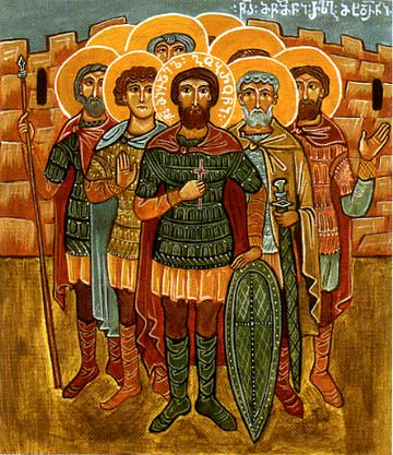 Martyr  Gobron (Michael)  and 133 soldiers of Georgia (914) ( Georgia ).