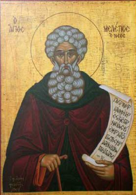 Venerable Meletius the Younger of Thebes (1095-1124).
