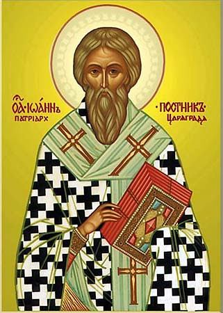 Venerable  John  the Faster, patriarch of Constantinople (595).