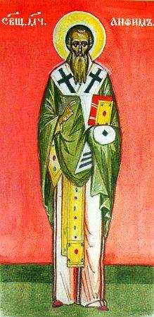 Hieromartyr Anthimus , bishop of Nicomedia, and those with him: Martyrs Theophilus deacon, Dorotheos, Mardonius, Migdonius, Peter, Indes, Gorgonius, Zeno, the Virgin Domna, and Euthymius (302).